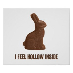 hollow chocolate bunny
